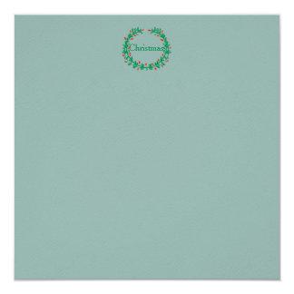 Azul congelado gelado do inverno com grinalda convite quadrado 13.35 x 13.35cm