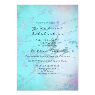 Azul cor-de-rosa Pastel de mármore mínimo de Ombre Convite 12.7 X 17.78cm