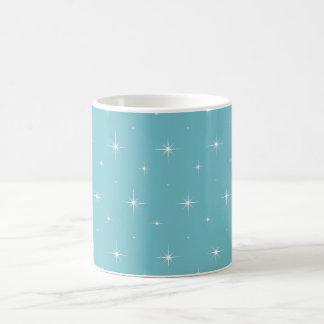 Azul-Curaçau-E-Brilhante-Estrela-Elegante-Teste Caneca De Café
