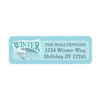 Azul customizável da etiqueta de endereço | do