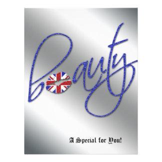Azul da bandeira de Union Jack do cabelo do insect Panfletos Personalizado