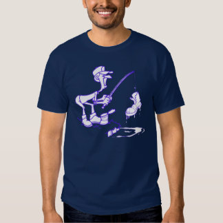 Azul da bota da pesca tshirt