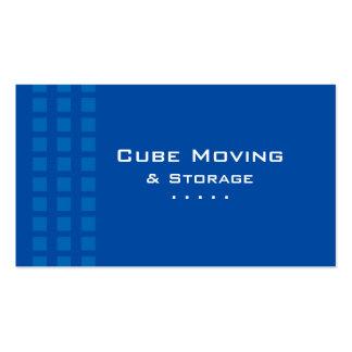 Azul da caixa de cartão de visita do armazenamento