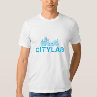 Azul da camisa do CityLab dos homens no branco Camisetas