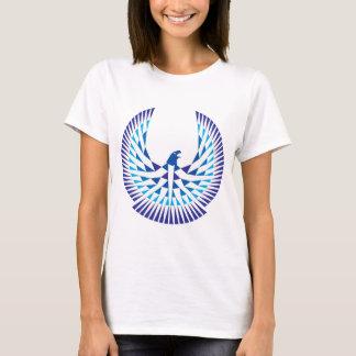 Azul da camisa do logotipo do alojamento da