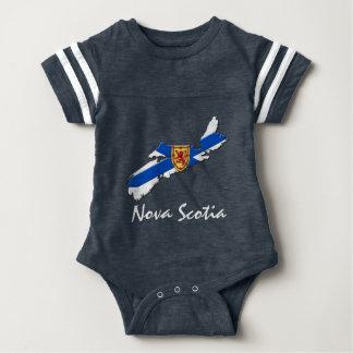 Azul da camisa do mapa de Nova Escócia