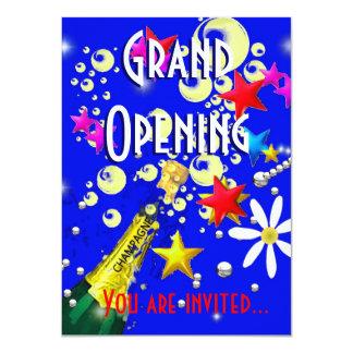 Azul da celebração do champanhe da grande convites