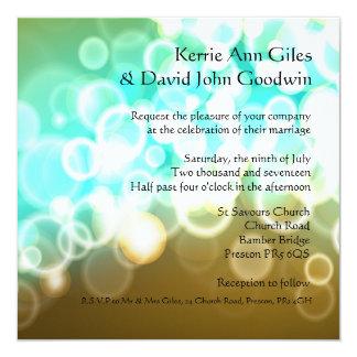 Azul da cerceta e convite do casamento de Brown