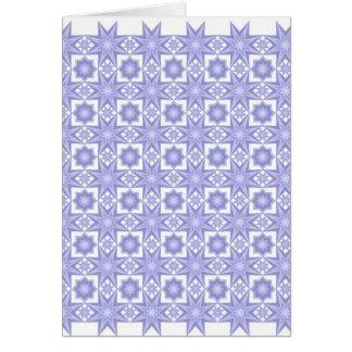 Azul da edredão da estrela… cartão