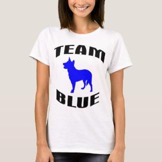 Azul da equipe camiseta