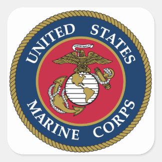Azul da etiqueta do Corpo do Marines dos E.U.