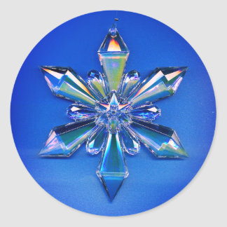 Azul da etiqueta do feriado do Natal do ornamento