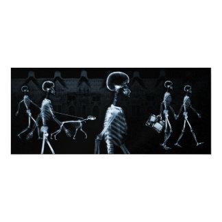 Azul da meia-noite do preto do Stroll dos Convite 10.16 X 23.49cm
