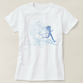 Azul da menina do corredor tshirts