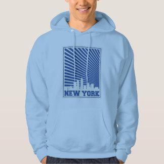Azul da Nova Iorque Moletom