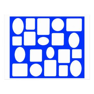 Azul da paisagem da moldura para retrato o MUSEU Cartão Postal