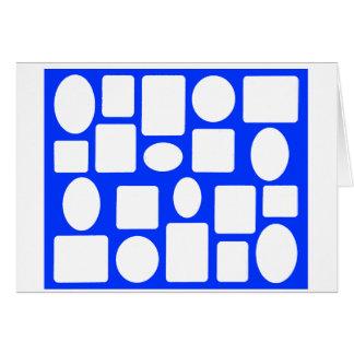 Azul da paisagem da moldura para retrato o MUSEU Z Cartao