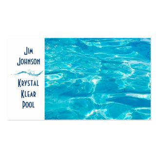 Azul da piscina cartão de visita
