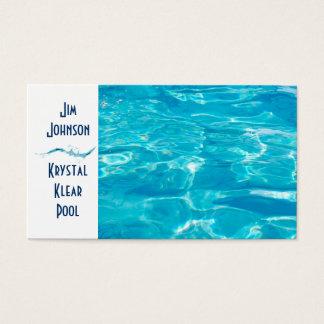 Azul da piscina cartão de visitas