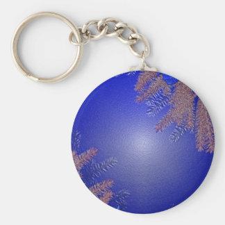 Azul da poinsétia do Natal Chaveiro