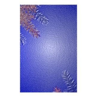Azul da poinsétia do Natal mim Panfleto Personalizados