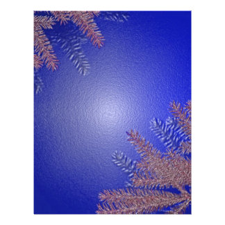 Azul da poinsétia do Natal Modelo De Panfletos