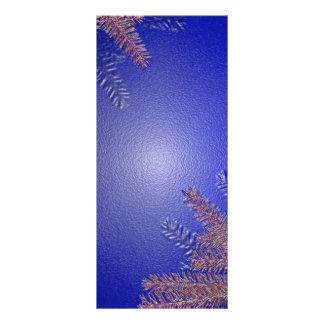 Azul da poinsétia do Natal Modelos De Panfletos Informativos