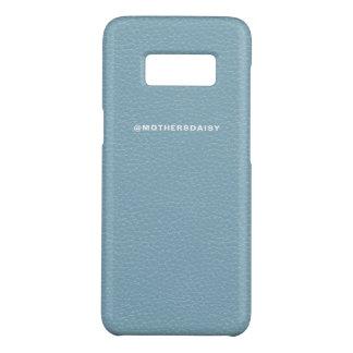 Azul da sarja de Nimes da luz do olhar do couro do Capa Case-Mate Samsung Galaxy S8