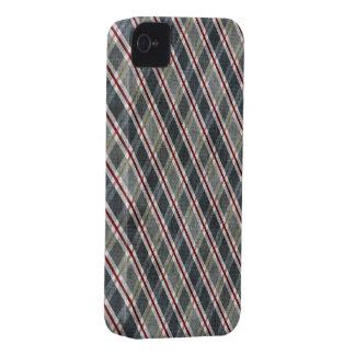 Azul da xadrez do diamante capa para iPhone 4 Case-Mate