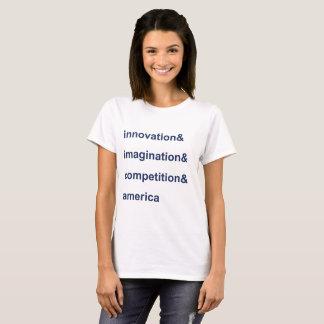 Azul de América da competição da imaginação da Camiseta