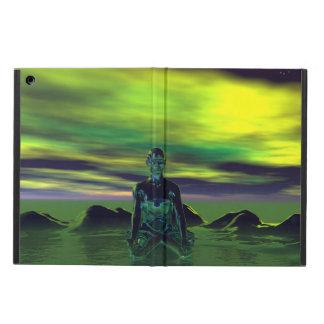 azul de buddha e verde do céu capa para iPad air