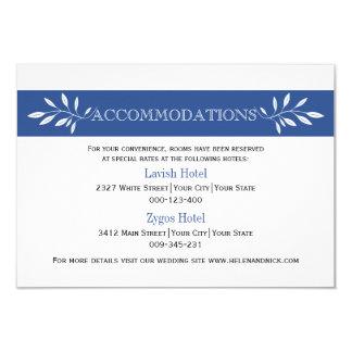 Azul de índigo, acomodações modernas brancas do convite 8.89 x 12.7cm