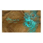 Azul de madeira ajardinando floral do cartão de vi cartoes de visitas
