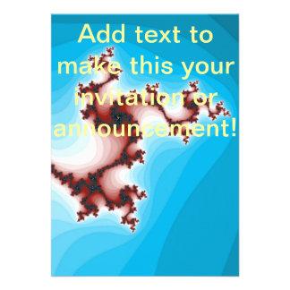 Azul de mitigação do marrom abstrato do Fractal Convite