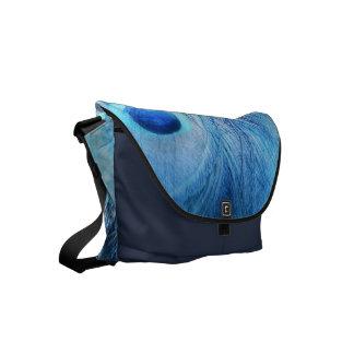 Azul de pavão bolsa mensageiro