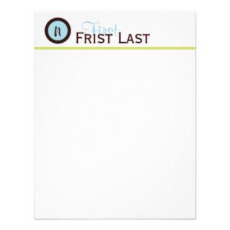 Azul de Personalizedd e cartão de nota modernos de Convite