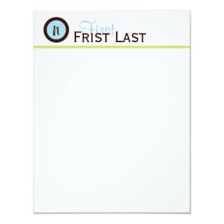 Azul de Personalizedd e cartão de nota modernos de Convite 10.79 X 13.97cm
