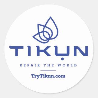 Azul de Tikun na etiqueta branca
