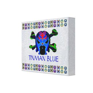 AZUL de TINMAN - crânio amigável do fantasma do mo Impressão Em Tela Canvas