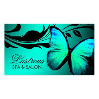 Azul de turquesa brilhante da borboleta 311 cartão de visita