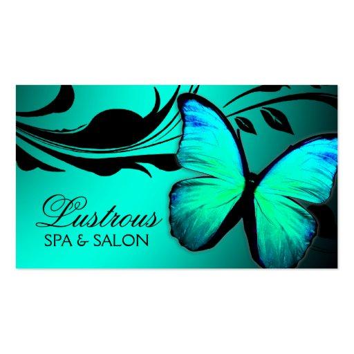 Azul de turquesa brilhante da borboleta 311 modelo de cartões de visita