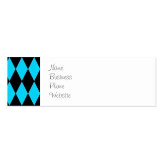 Azul de turquesa da cerceta e teste padrão do cartão de visita skinny