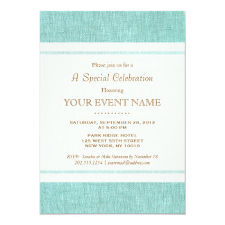 Azul de turquesa elegante simples, na moda convite personalizados