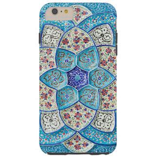 Azul de turquesa marroquino tradicional, branco, capas iPhone 6 plus tough