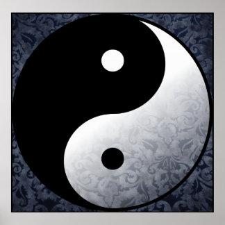 Azul de Yin Yang Poster