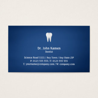 Azul dental elegante de | cartão de visitas