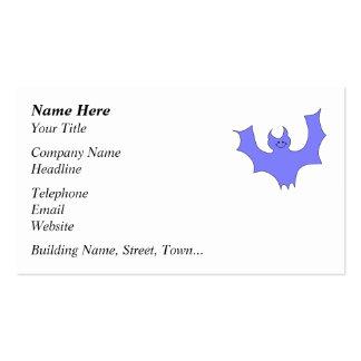 Azul - desenhos animados roxos do bastão cartão de visita