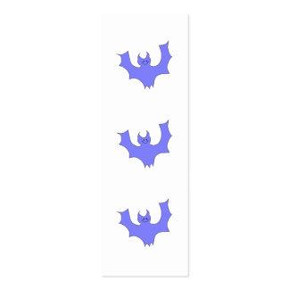 Azul - desenhos animados roxos do bastão cartão de visita skinny