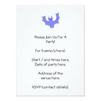 Azul - desenhos animados roxos do bastão convite personalizados