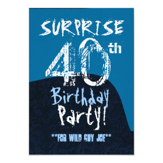 Azul do aniversário de 40 anos da SURPRESA para Convites